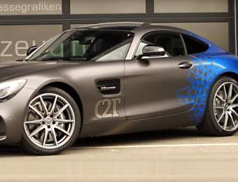 Video Vollfolierung Mercedes AMG GT